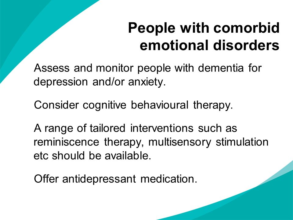 People with comorbid emotional disorders