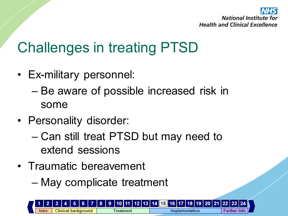 Challenges in treating PTSD