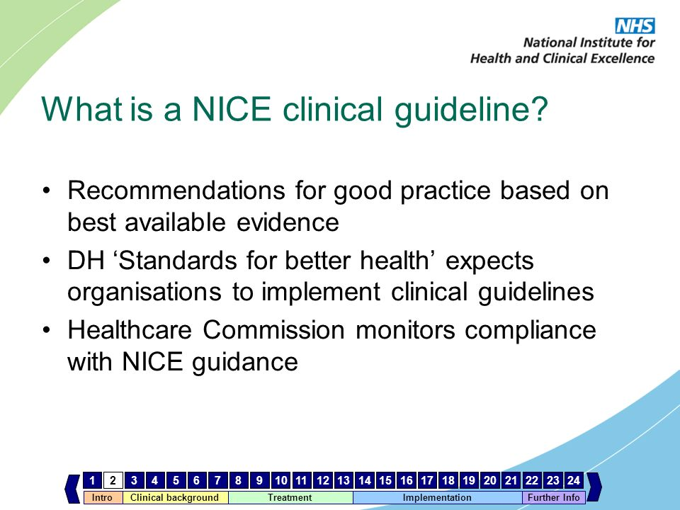 What is a NICE clinical guideline