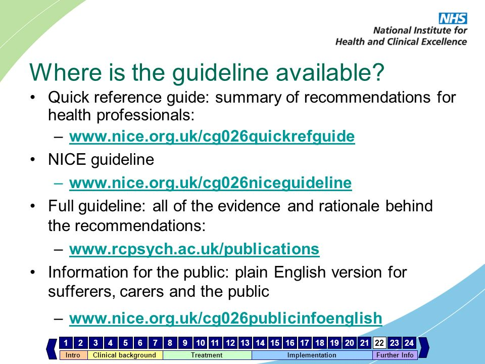 Where is the guideline available