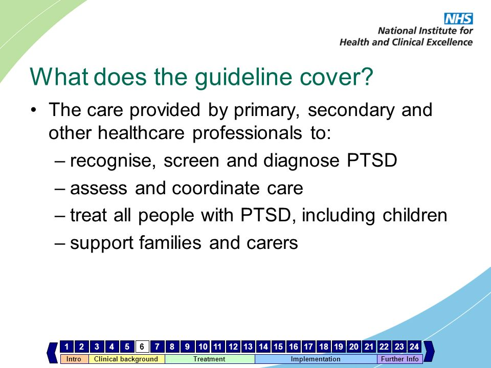 What does the guideline cover