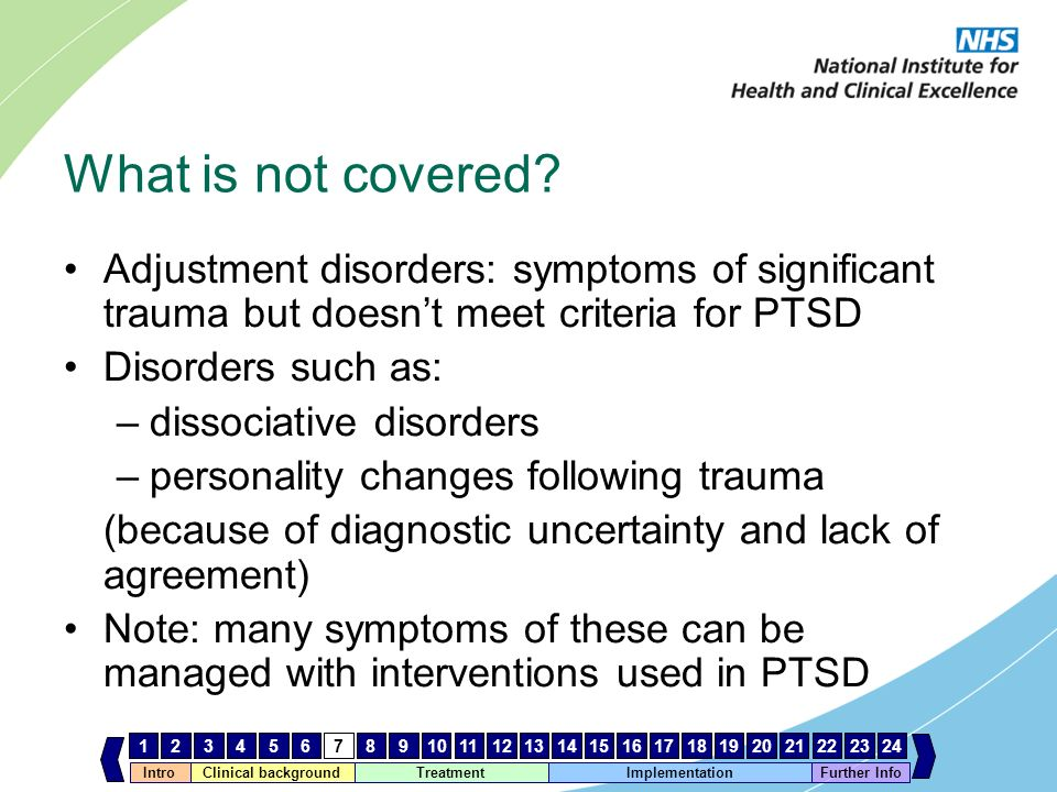 adjustment disorder diagnosis and treatment Regardless if you have gad or adjustment disorder, it is important to know that treatment is available and recovery is possible seeing a trained therapist can help you manage your symptoms a combination of therapy sessions and anti-anxiety medications can help you regain control.