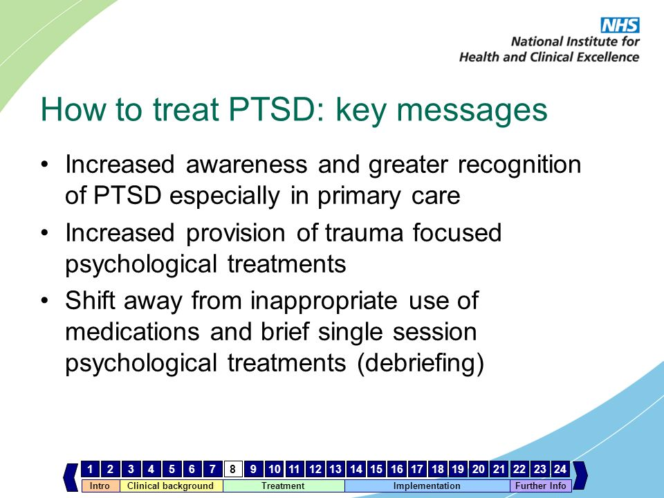 How to treat PTSD: key messages