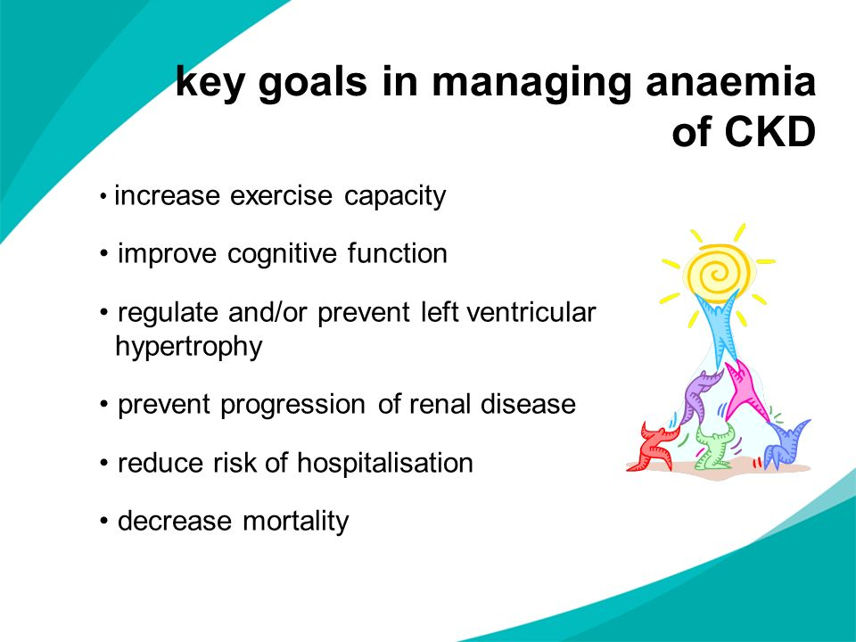 key goals in managing anaemia of CKD