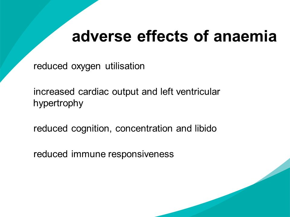 adverse effects of anaemia