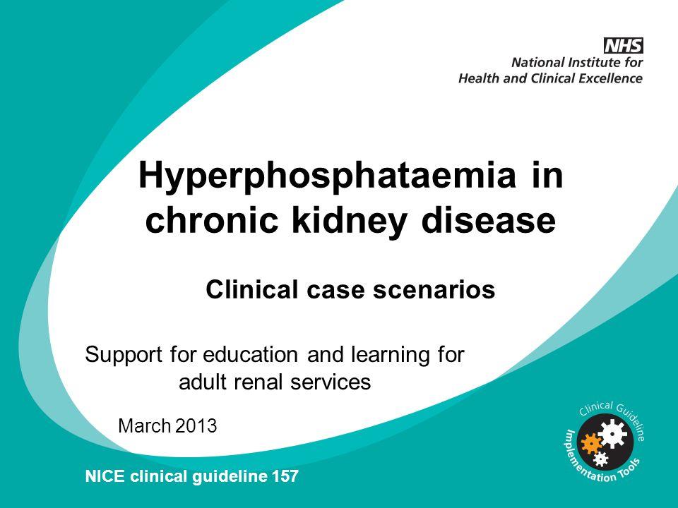 Hyperphosphataemia in chronic kidney disease Clinical case scenarios