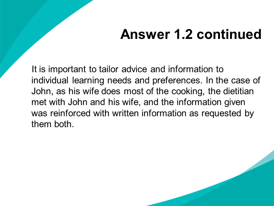 Answer 1.2 continued