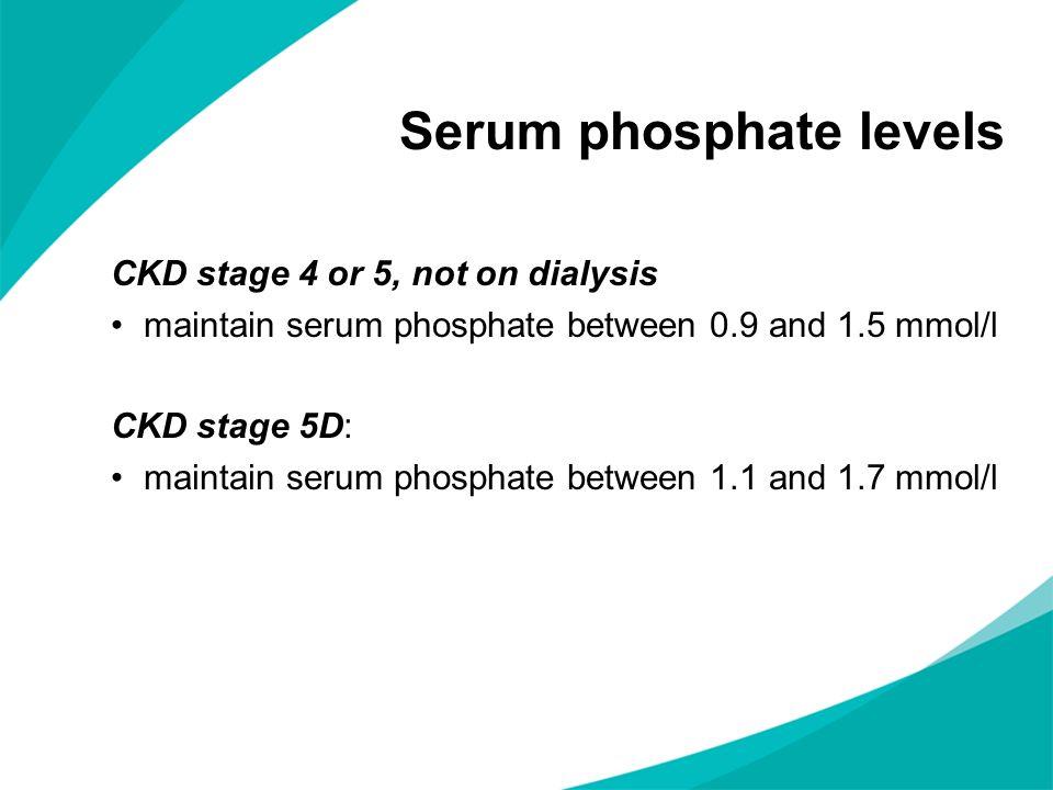 Serum phosphate levels