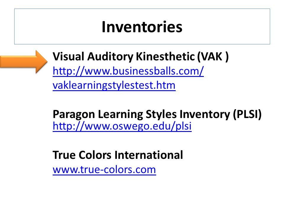 visual auditory kinesthetic learning styles pdf