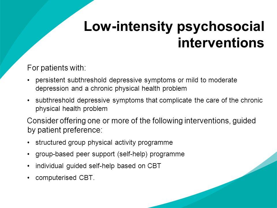 Low-intensity psychosocial interventions