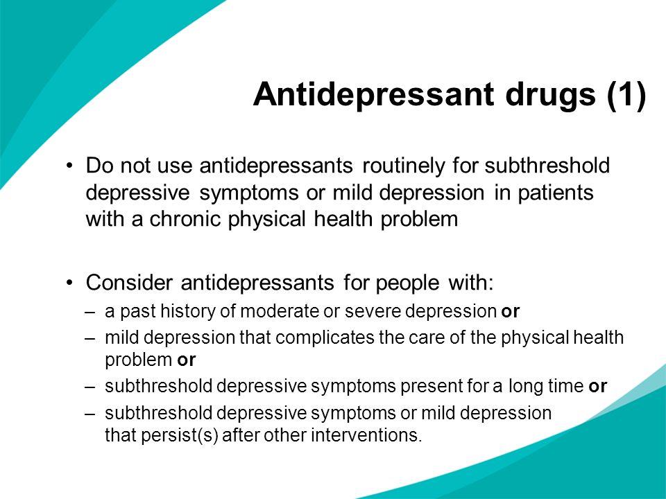 Antidepressant drugs (1)
