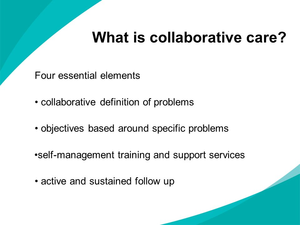 What is collaborative care