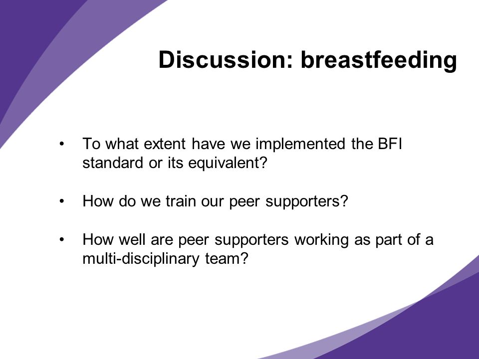 Discussion: breastfeeding