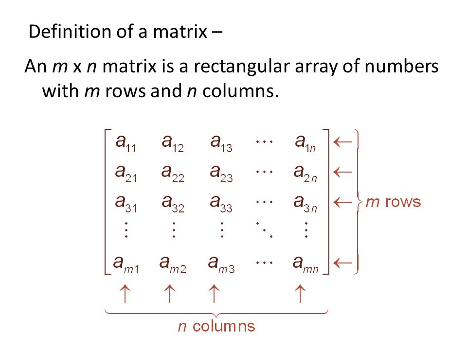 how to find matrix n rows