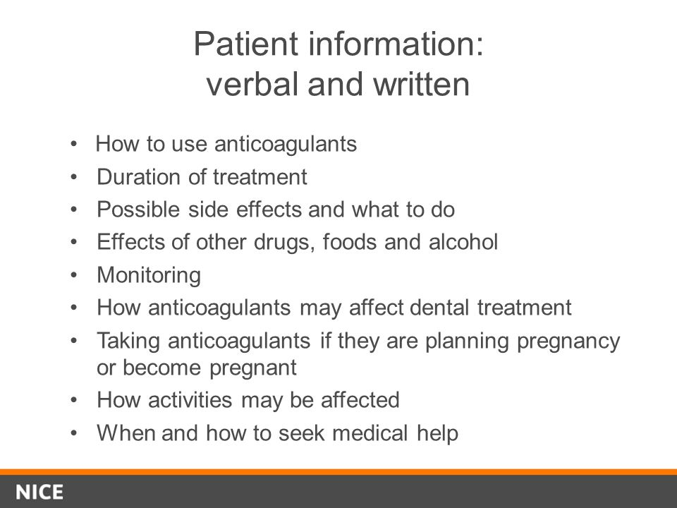 Patient information: verbal and written