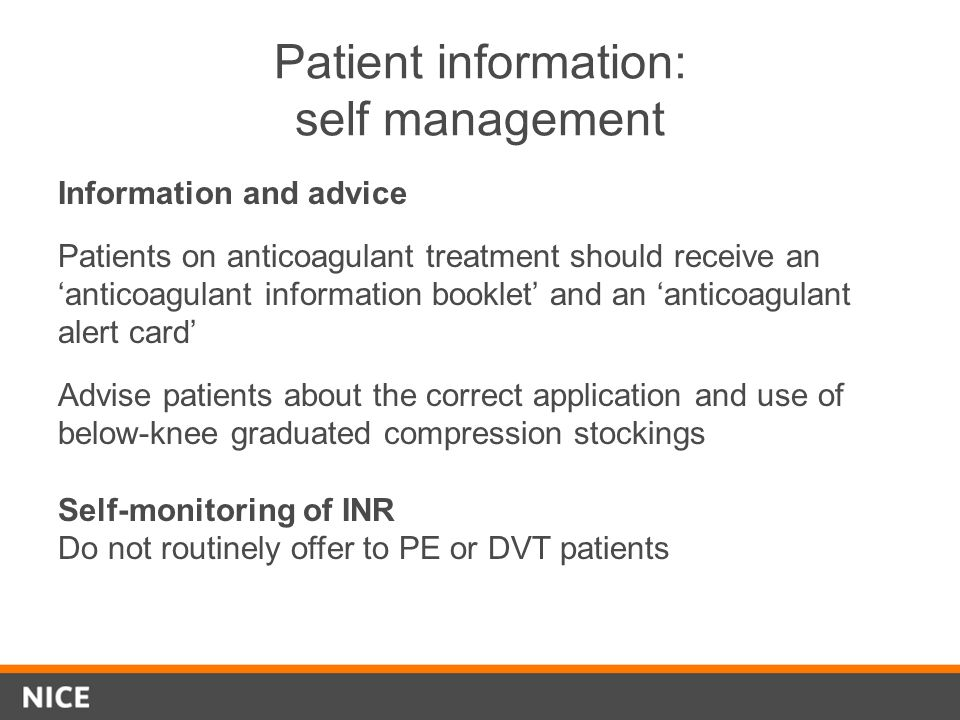 Patient information: self management