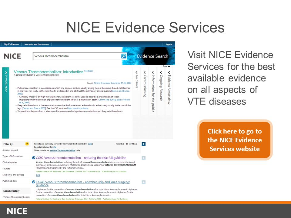 NICE Evidence Services