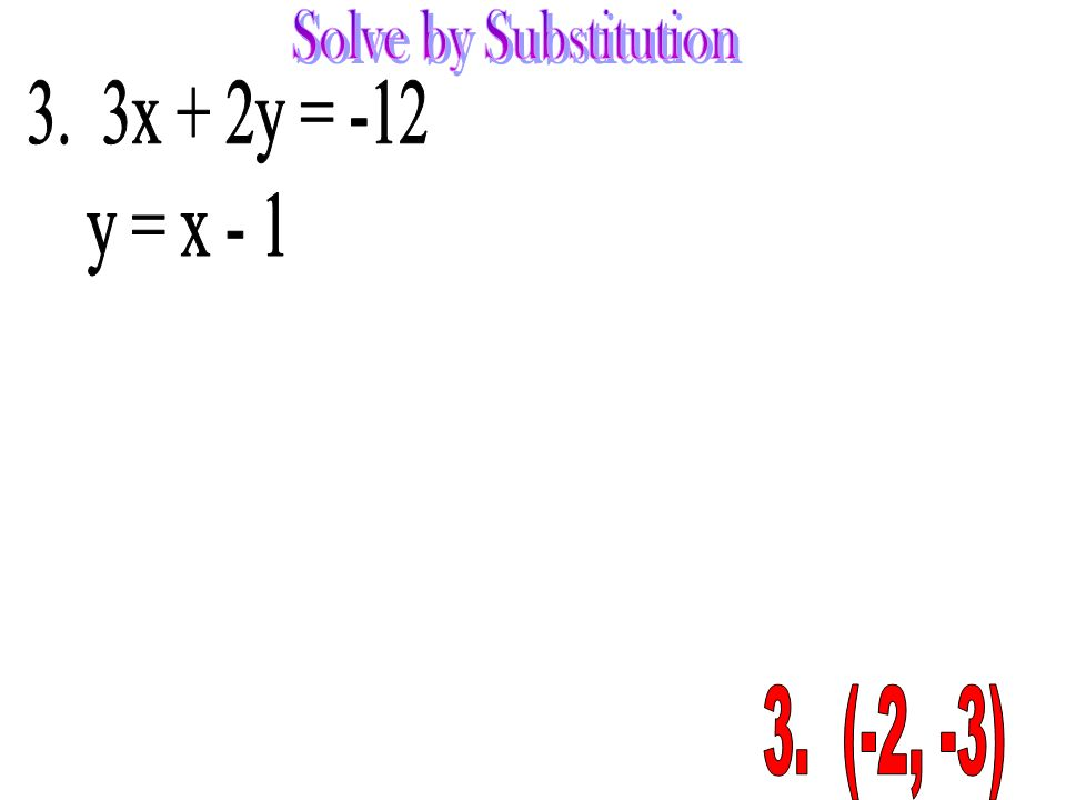 how to solve y 3 2