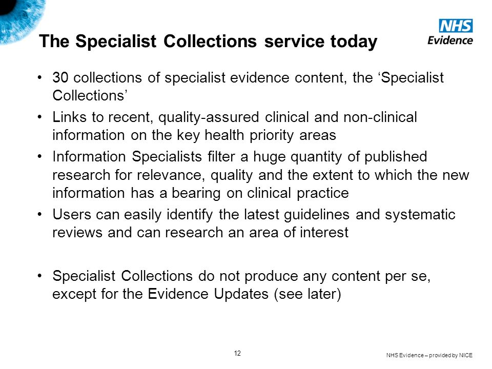 The Specialist Collections service today