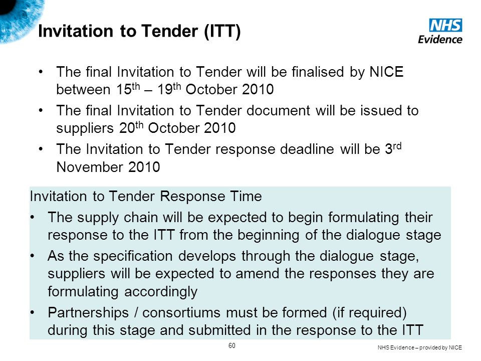 Invitation to Tender (ITT)
