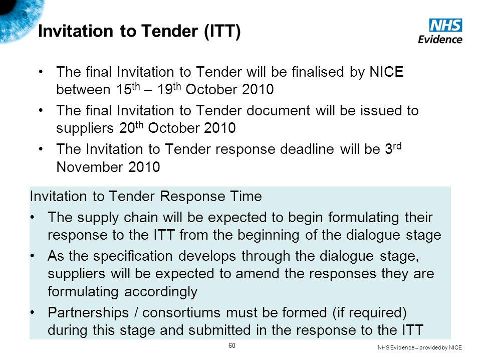 Invitation to Tender (ITT)