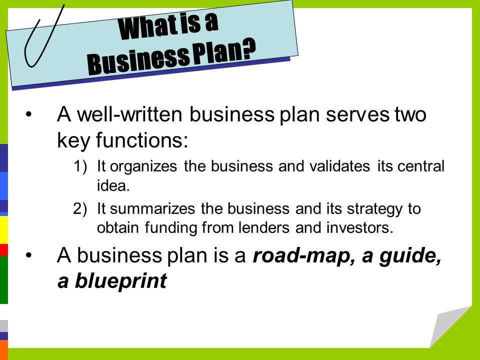 developing a business plan Answer these 4 questions to have a basic working business plan.