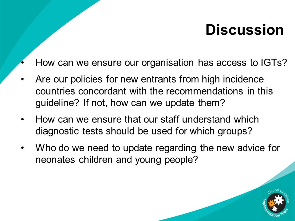 Discussion How can we ensure our organisation has access to IGTs