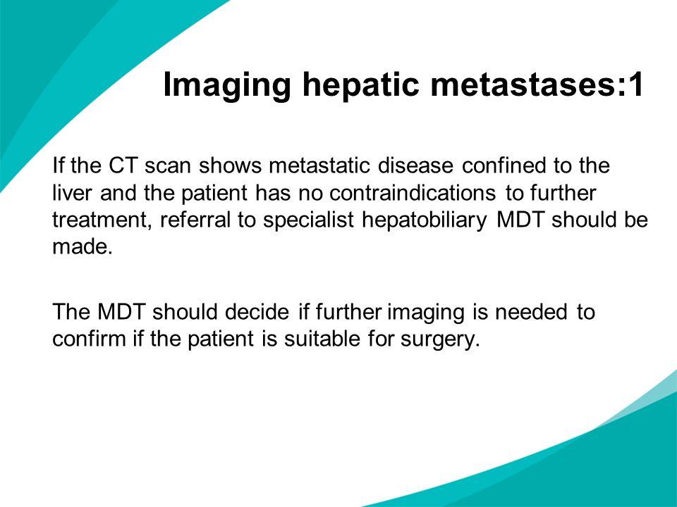 Imaging hepatic metastases:1