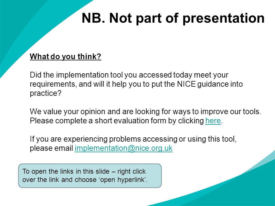 NB. Not part of presentation