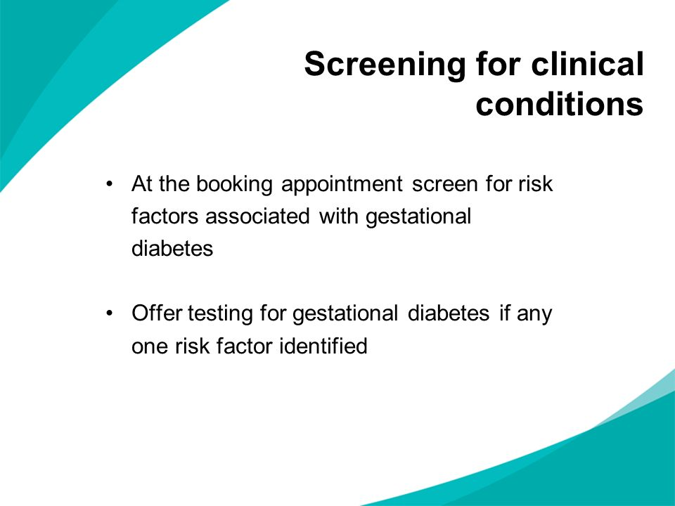 Screening for clinical conditions