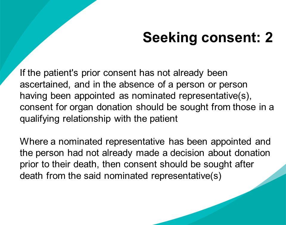 Seeking consent: 2