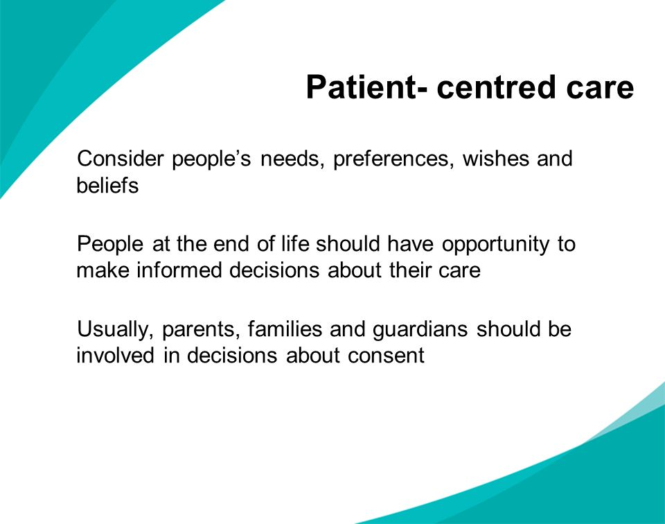 Patient- centred care