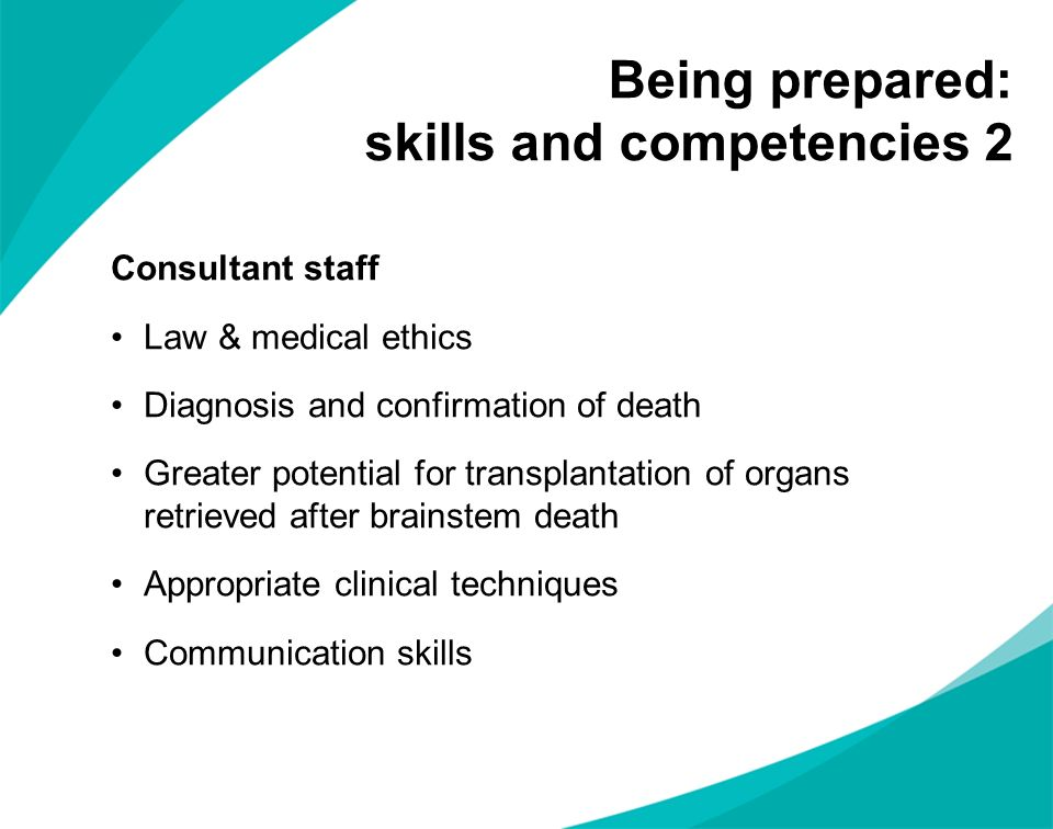 Being prepared: skills and competencies 2