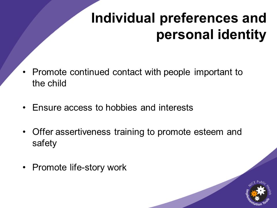 Individual preferences and personal identity