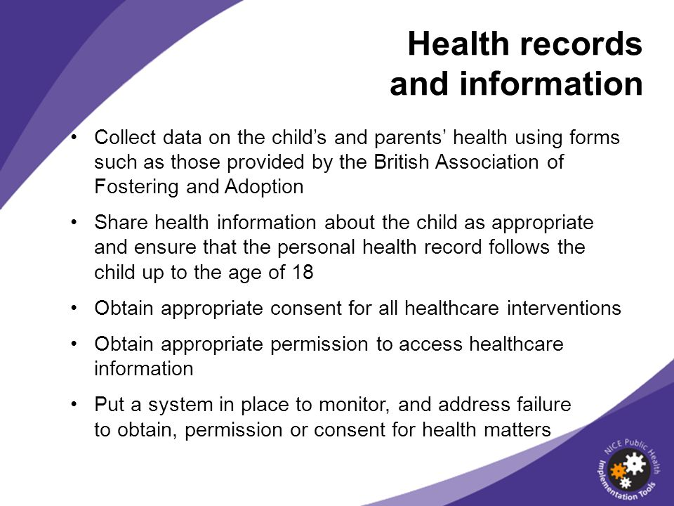 Health records and information