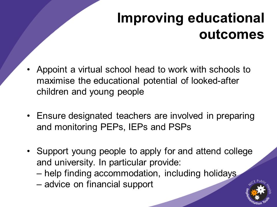 Improving educational outcomes