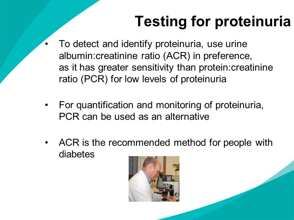 Testing for proteinuria