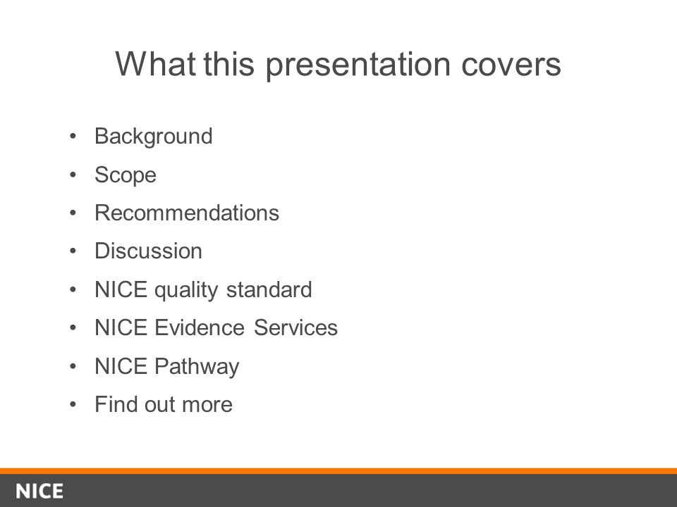 What this presentation covers
