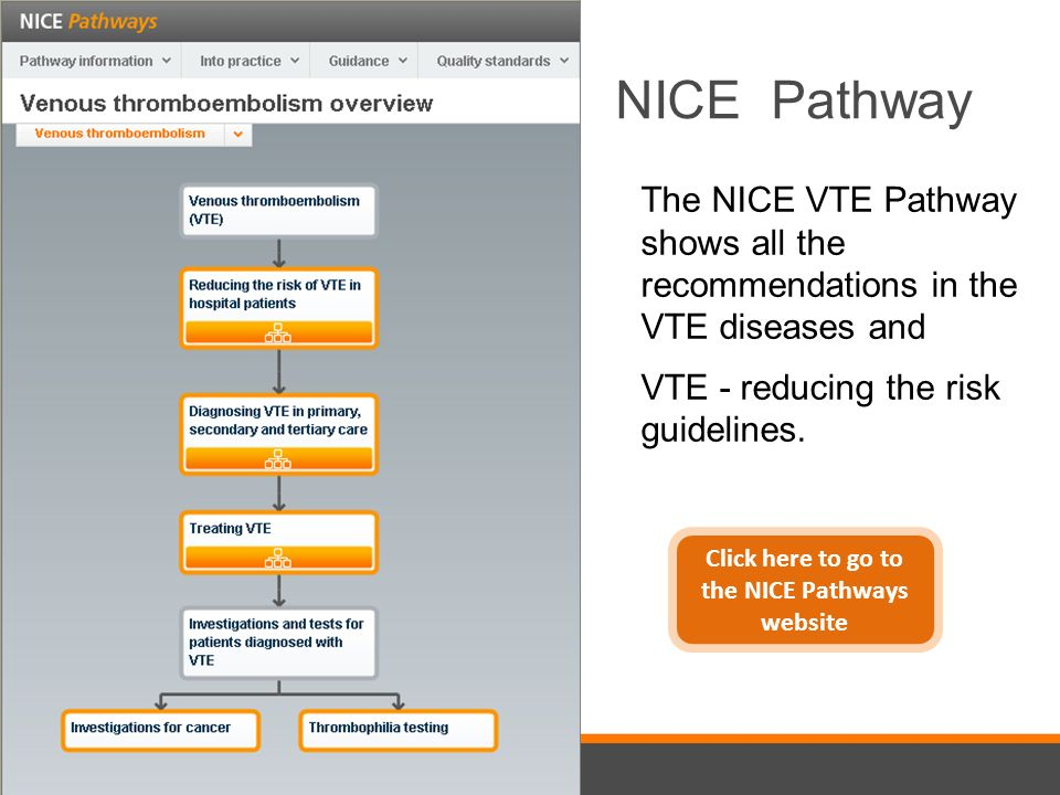 Click here to go to the NICE Pathways website