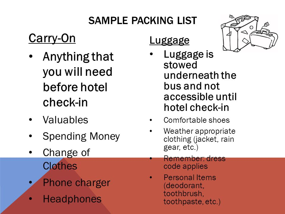 washington travel packing list