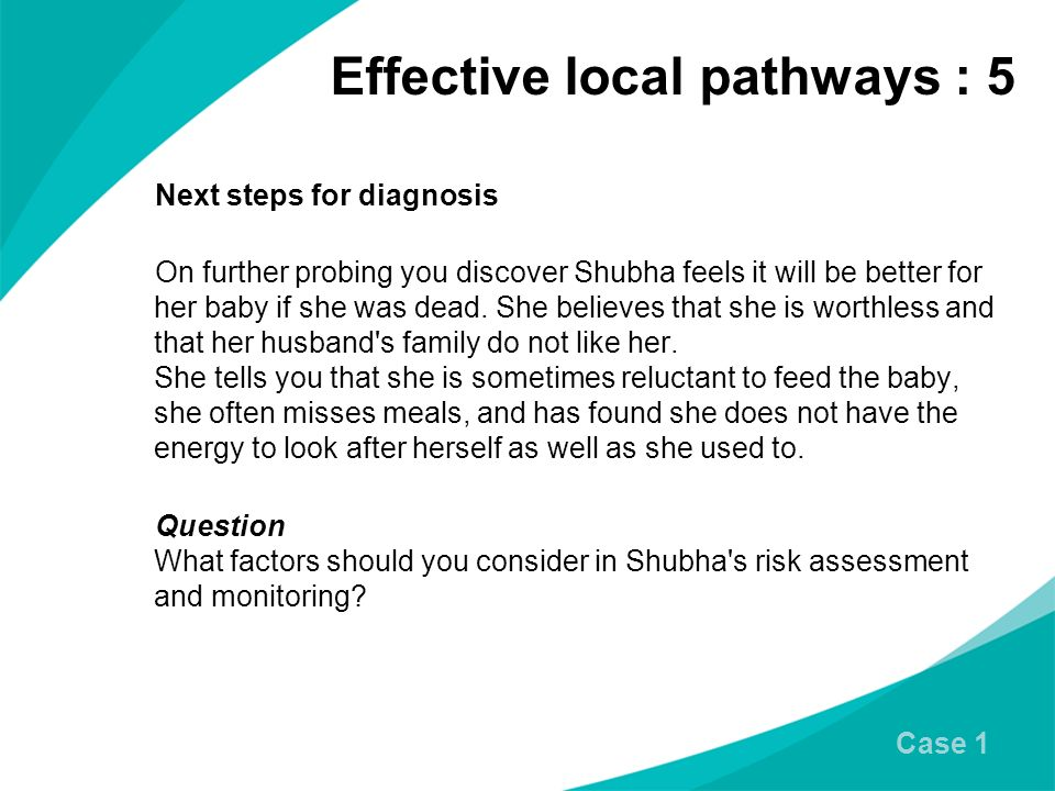Effective local pathways : 5