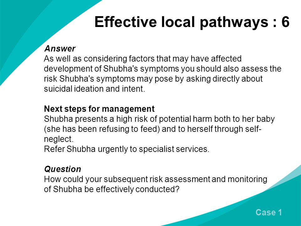 Effective local pathways : 6