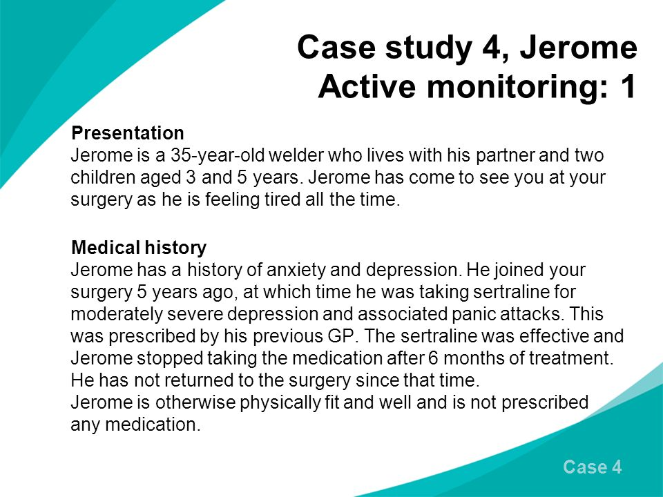 Case study 4, Jerome Active monitoring: 1