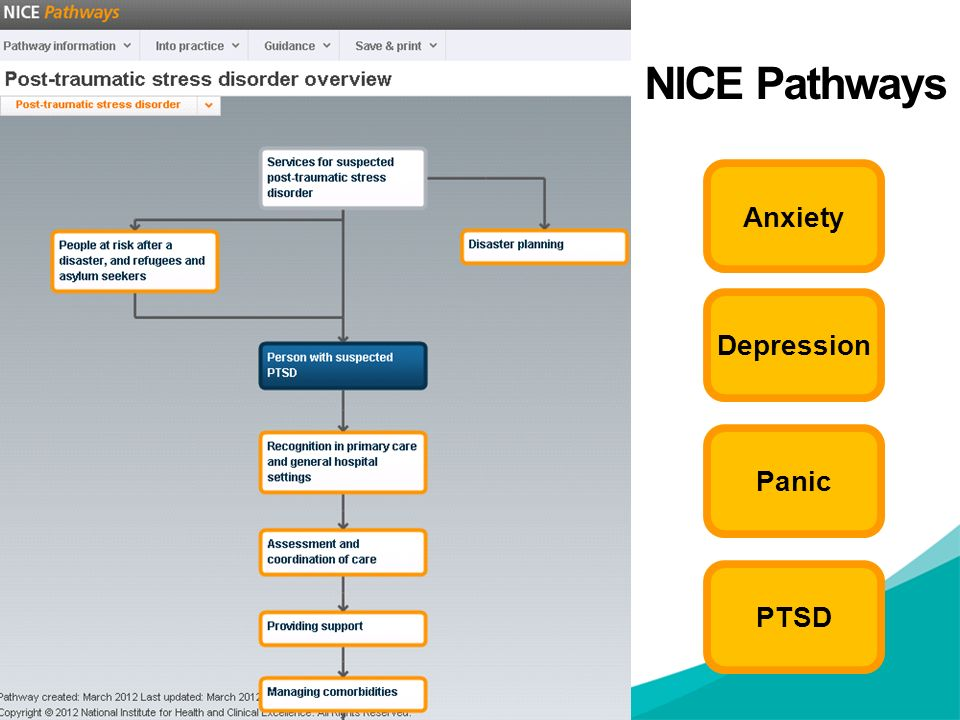 NICE Pathways Anxiety Depression Panic PTSD NOTES FOR PRESENTERS:
