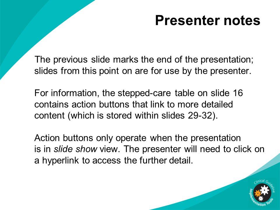 Presenter notes