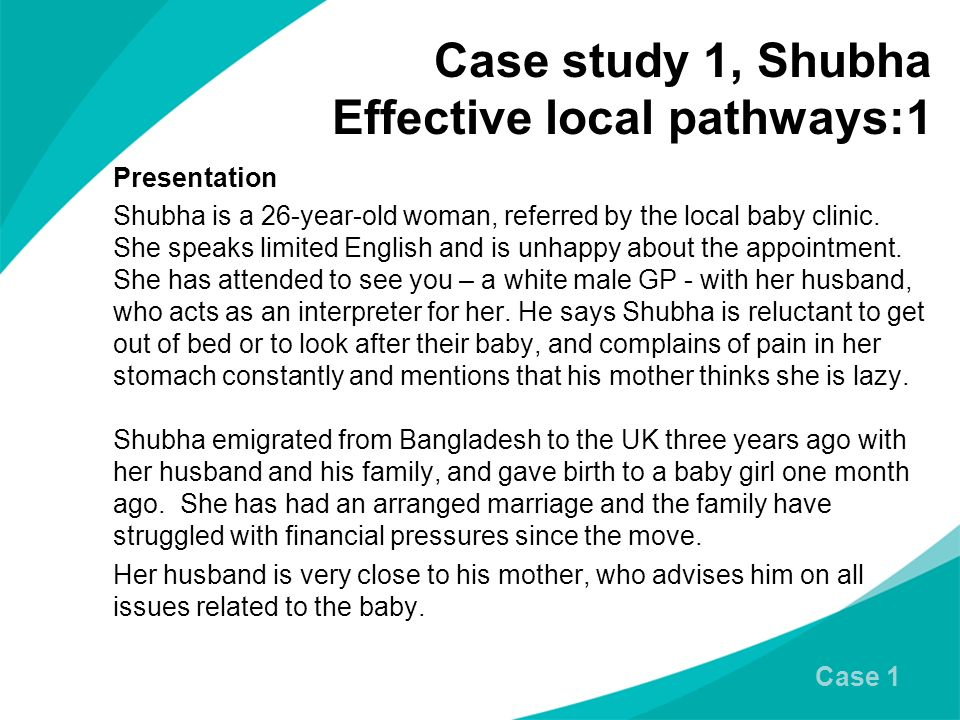 Case study 1, Shubha Effective local pathways:1