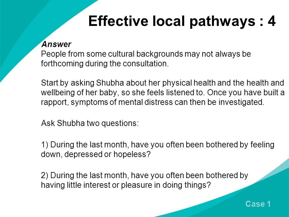 Effective local pathways : 4