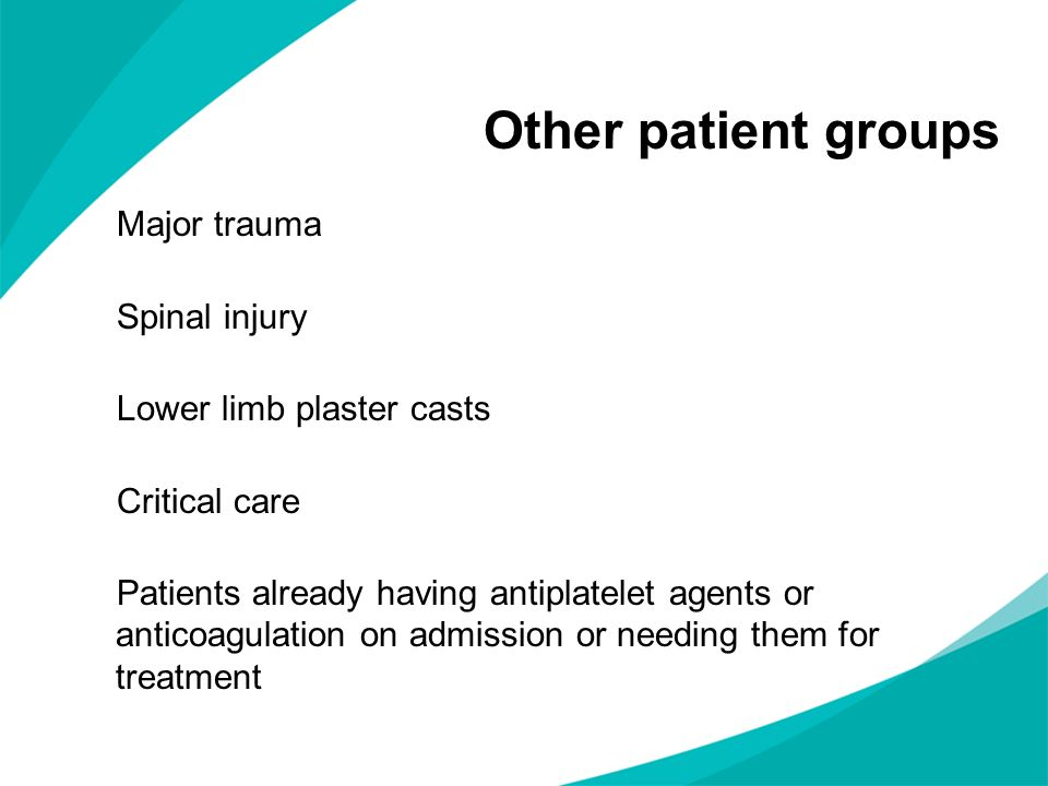 Other patient groups