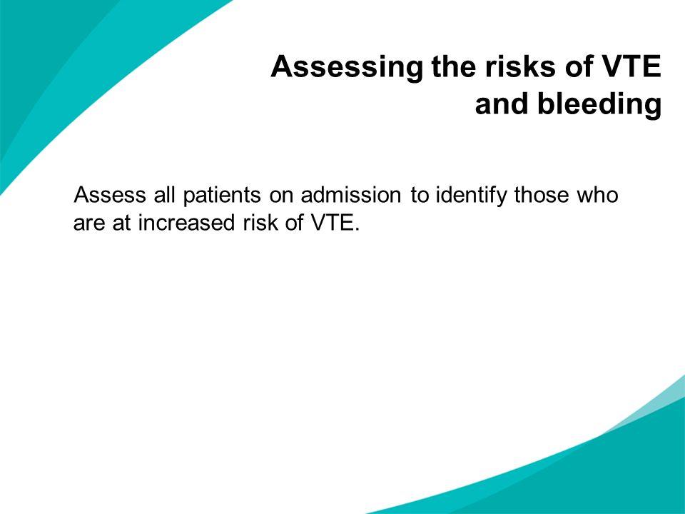 Assessing the risks of VTE and bleeding