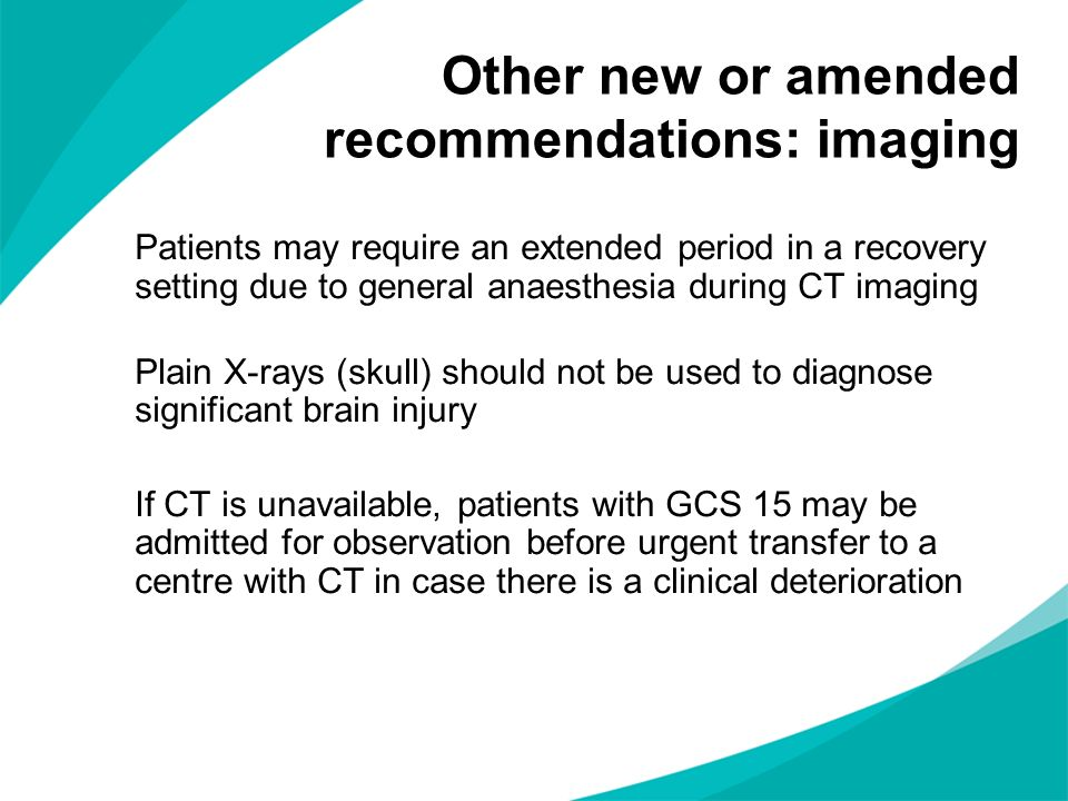 Other new or amended recommendations: imaging
